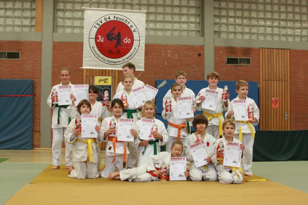 Erfolgreiche Judoka Nikolausturnier 2012