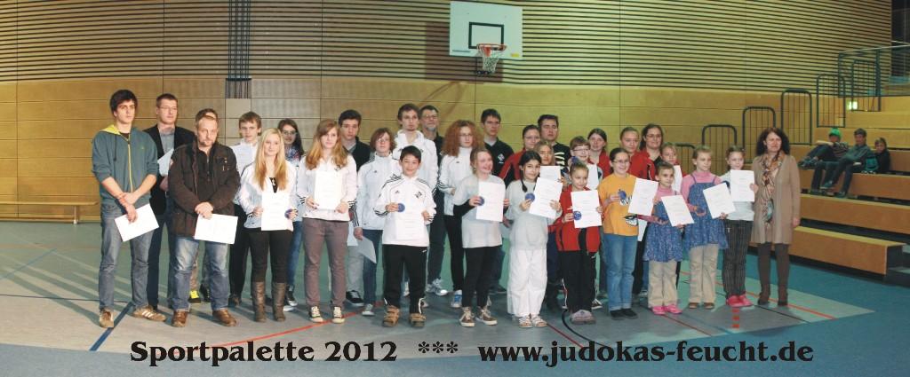 Gruppenbild Ehrung Sportpalette 2012